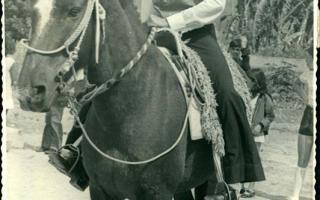 Geraldo do Irací a cavalo 1970 a 1979